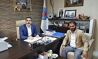 Tekirdağ il temsilcisi Alçiçek'ten Cankesen'e ziyaret