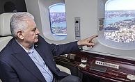 Başbakan Binali Yıldırım, demiryolu projelerini havadan inceledi