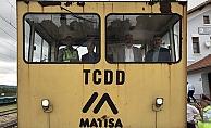 Birdal Tekirdağ-Çorlu-Ömerli-Çatalca demiryolu hattında incelemelerde bulundu
