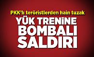 PKK'lı teröristlerden hain tuzak! Yük trenine bombalı saldırı