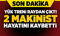 Elazığ'da tren raydan çıktı! 2 Makinist öldü