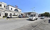 Konak tramvayında Alsancak Garı önünde işlem tamam