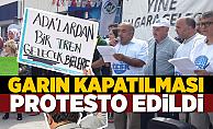 Tren Garının kapatılması protesto edildi