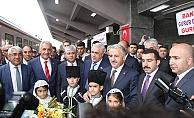 BTK Demiryolu Projesinde ilk yolcular Gürcistan'dan Kars'a geldi