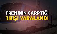İzmir'de trenin çarptığı kişi yaralandı
