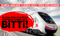 Kayışoğlu:Bursa Hızlı Tren Projesinin yüzde 15'i bitmeden ödeneğin yüzde 96'sı bitti