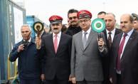 BTK demiryolu hattında Türkiye'den ilk tren yola çıktı