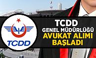 TCDD Avukat alımı başvuruları başladı