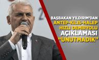 Başbakan'dan Antep-Kilis-Halep hızlı demiryolu açıklaması!