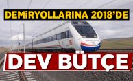 Demiryollarına 2018'de 14,2 milyar TL yatırım
