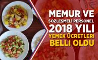 Memur ve Sözleşmeli Personel 2018 Yılı Yemek Ücretleri Resmi Gazete'de Yayımlandı