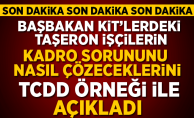 Taşerona Kadro Son Dakika! Başbakan TCDD örneği ile açıkladı