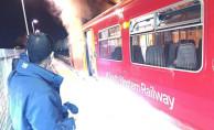Banliyö treninde korkutan yangın