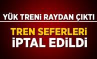 Aydın'da yük treni raydan çıktı! Denizli-İzmir tren seferleri yapılamıyor