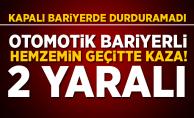 Elazığ'da hemzemin geçit kazası! 2 yaralı