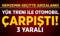 Diyarbakır'da hemzemin geçitte kaza: 3 yaralı
