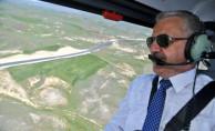 Bakan Arslan Kars'taki Projeleri Havadan İnceledi