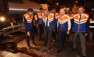 Başkan Uysal, yol çalışmalarını denetledi