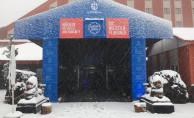 'Kartepe Zirvesi'ne ilk kar düştü