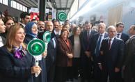 SOSYAL KOOPERATİF TRENİ ANKARA GAR'DAN UĞURLANDI