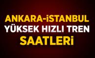 İstanbul-Ankara Hızlı Tren Saatleri 2019 | İstanbul-Ankara YHT Saatleri