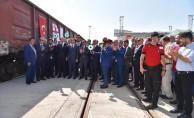 Yılda 120 Bin Ton Yük Taşıyacak İhracat Treni Yola Çıktı