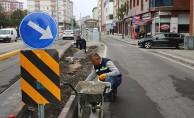 Tramvay çalışması biten caddeler yenileniyor