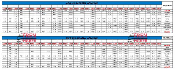 Adana Mersin Tren Saatleri 2016