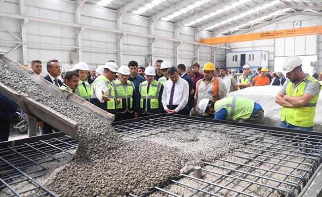 ankara sivas hızlı tren projesi yapı merkezi beton travers fabrikası