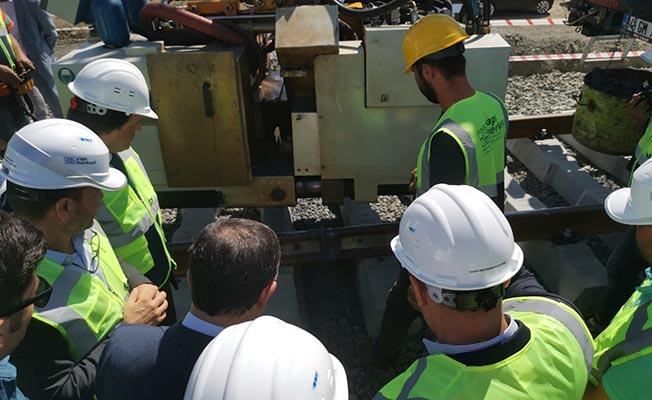 ankara sivas hızlı tren projesi yapı merkezi ray kaynak çalışması