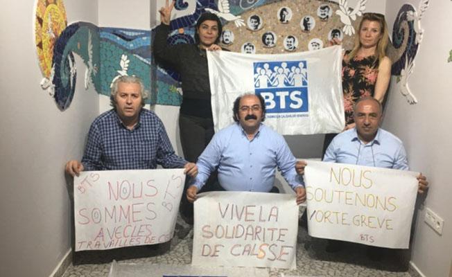 BTS'den fransade grev kararı alan demiryolculara destek mesajı