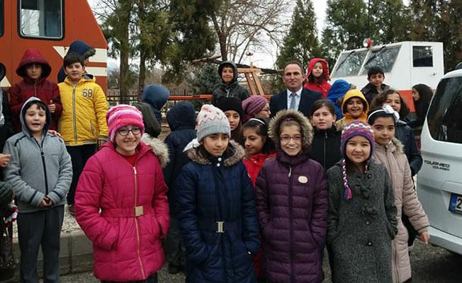 Erzincan Mimar Sinan İlkokulu Tren Garı ziyareti