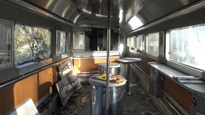Pariste terk edilmiş eurostar treni