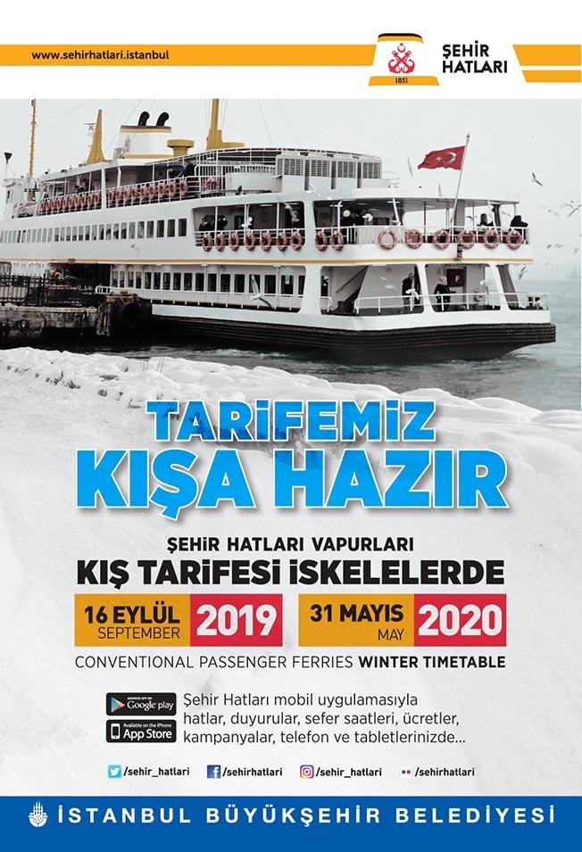 istanbul adalar şehir hatları vapur saatleri
