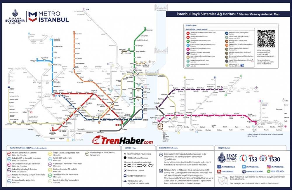 istanbul raylı sistemler haritası