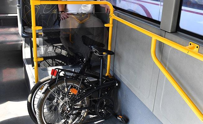 izmir belediye otobüslerinde katlanır bisiklet