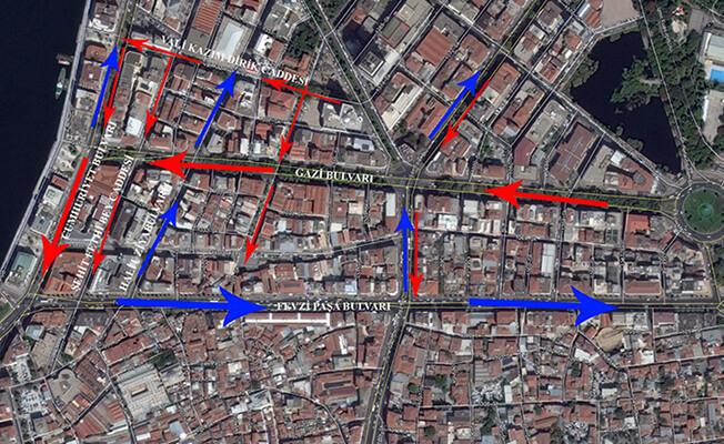 İzmir Trafik Düzenlemesi Yılbaşı Konak Tramvayı