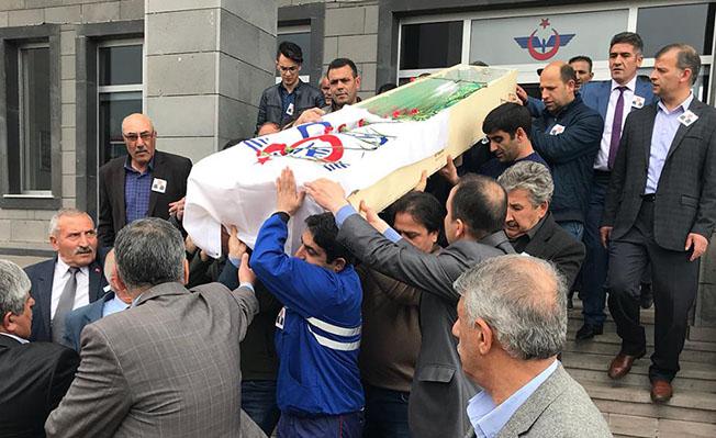 Kars Gar Müdür Metin Ruşen Tutaz cenazesi