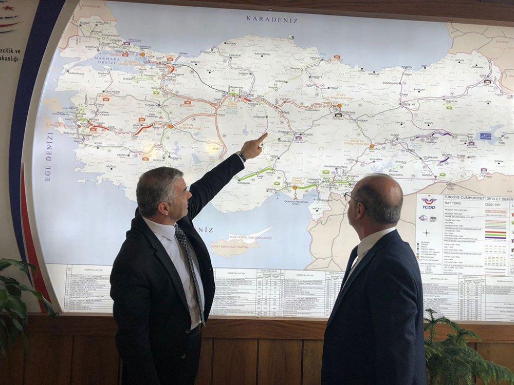 Kayseri'nin demiryolu projeleri tcdd görüşüldü