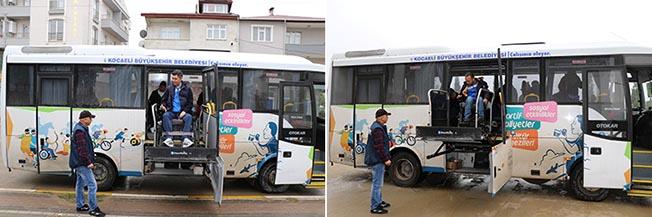 kocaeli engelli sporcular için özel otobüs
