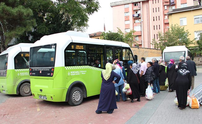 kocaeli toplu ulaşım halk pazarı mesaisi