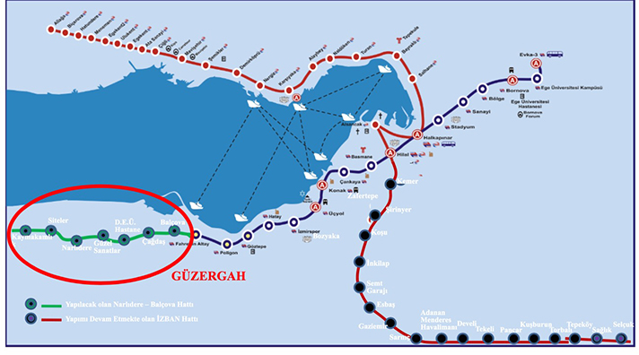 narlıdere metro güzergahı
