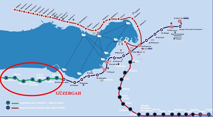 narlıdere metrosu güzergahı