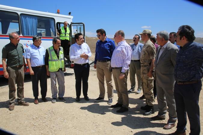 Sivas valisi Salih Ayhan samsun sivas kalın demiryolu hattını inceledi