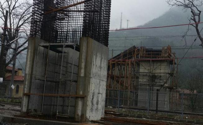 TCDD Sit alanı üst geçit inşaatı