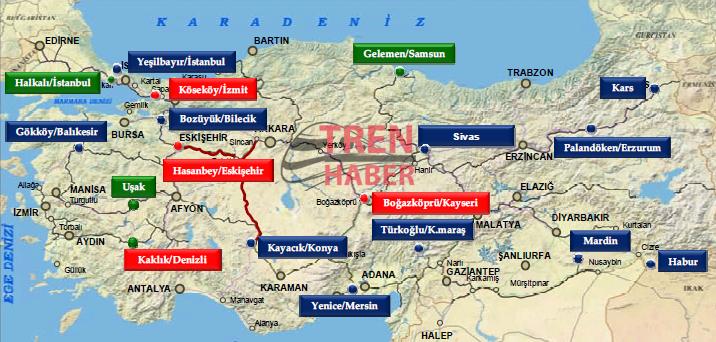 TCDD Lojistik Merkez Projeleri Tren Haber
