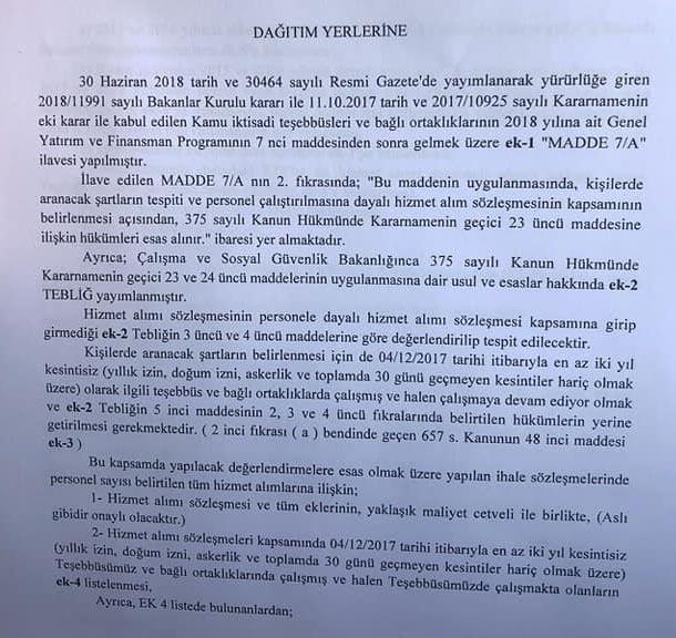 TCDD Taşeron işçilerine kadro