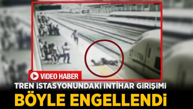 Tren istasyonundaki intihar teşebbüsü böyle engellendi