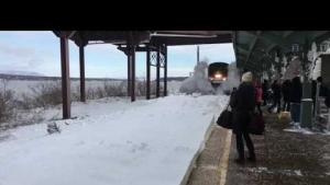 Trenin Karla Mücadelesi Yavaşlatılmış Çekim!